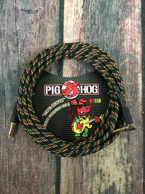 Pig Hog Cable Pig Hog Rasta PCH20RAR 20ft Straight to Right Angle instrument Cable