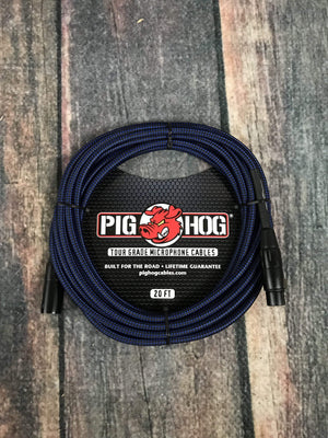 Pig Hog Black /& Blue PHM20BBL High Performance Woven XLR Microphone Cable 20ft