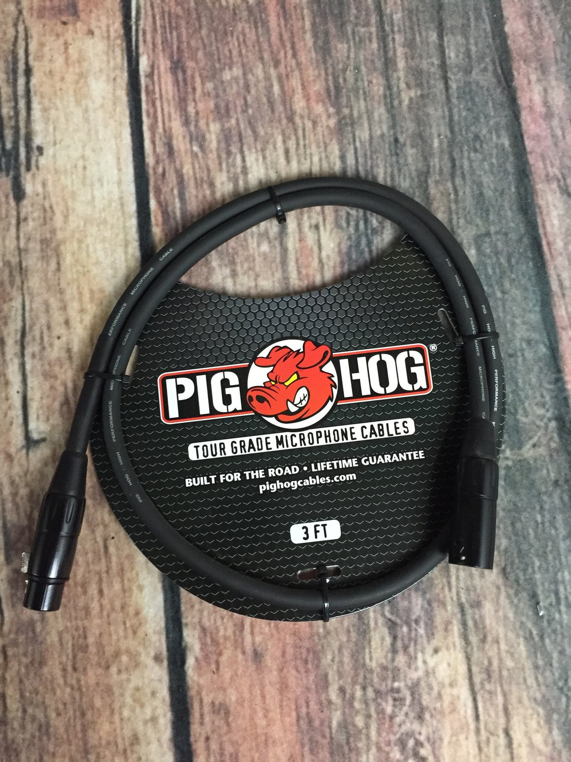 Pig Hog Microphone Cable Pig Hog PHM3 8mm 3ft XLR Microphone Cable