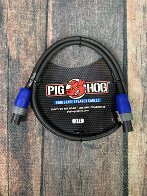 Pig Hog Speaker Cable Pig Hog PHSC3SPK Speaker Cable, 3ft (14 gauge wire), Speakon to Speakon