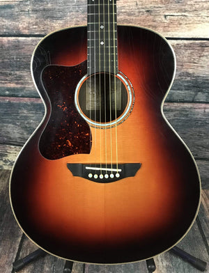 Used Pimentel Left Handed GR Auditorium Acoustic Guitar with Matching Case