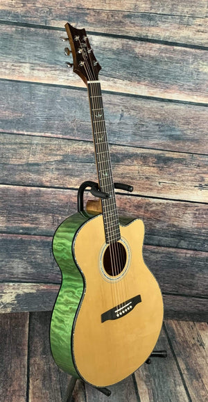 PRS Acoustic Guitar Paul Reed Smith PRS SE Angeles AE55EBH Acoustic Electric Guitar- Abaco Green