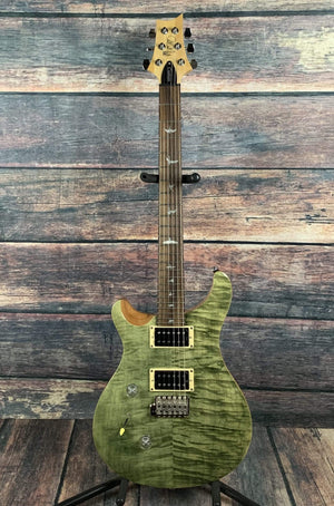 PRS Electric Guitar Paul Reed Smith PRS Left Handed SE Custom 24 Lefty Electric Guitar- Trampas Green