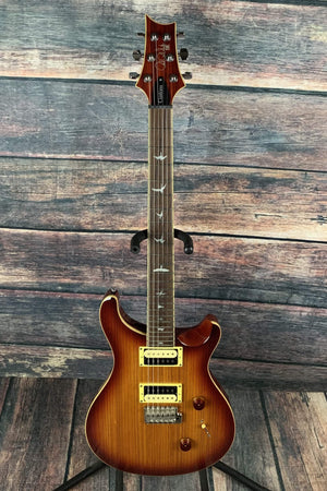 PRS Electric Guitar Paul Reed Smith PRS SE Custom 24 Exotic Top CU4ZZCBVS Double Cutaway Electric Guitar - Zebrawood