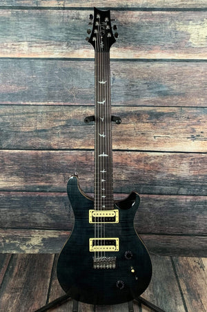 "PRS Electric Guitar Paul Reed Smith PRS SE SVN ""Seven"" 7 String Electric Guitar with PRS Bag- Gray Black"