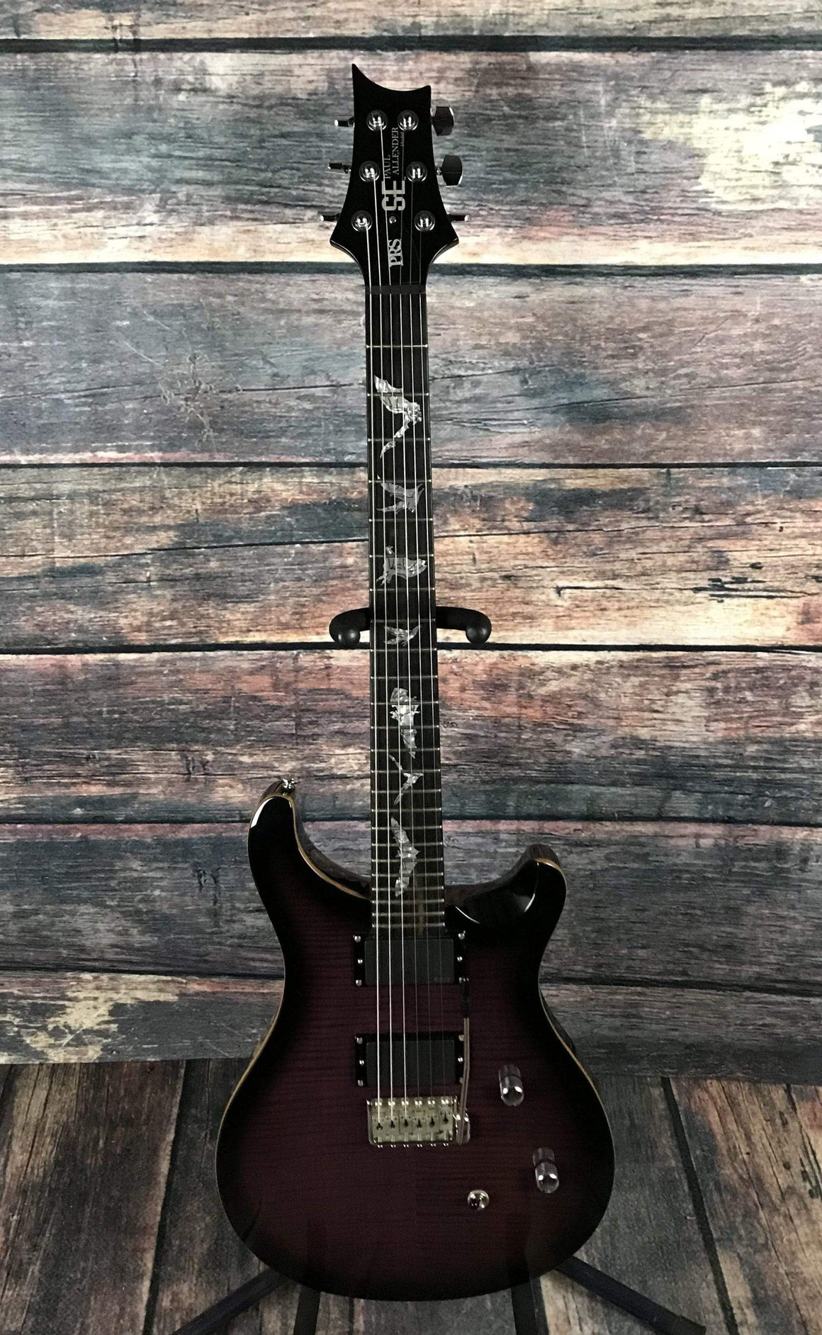 PRS Electric Guitar Used Paul Reed Smith PRS Paul Allender SE EMG with Roadrunner Case- Purple Burst