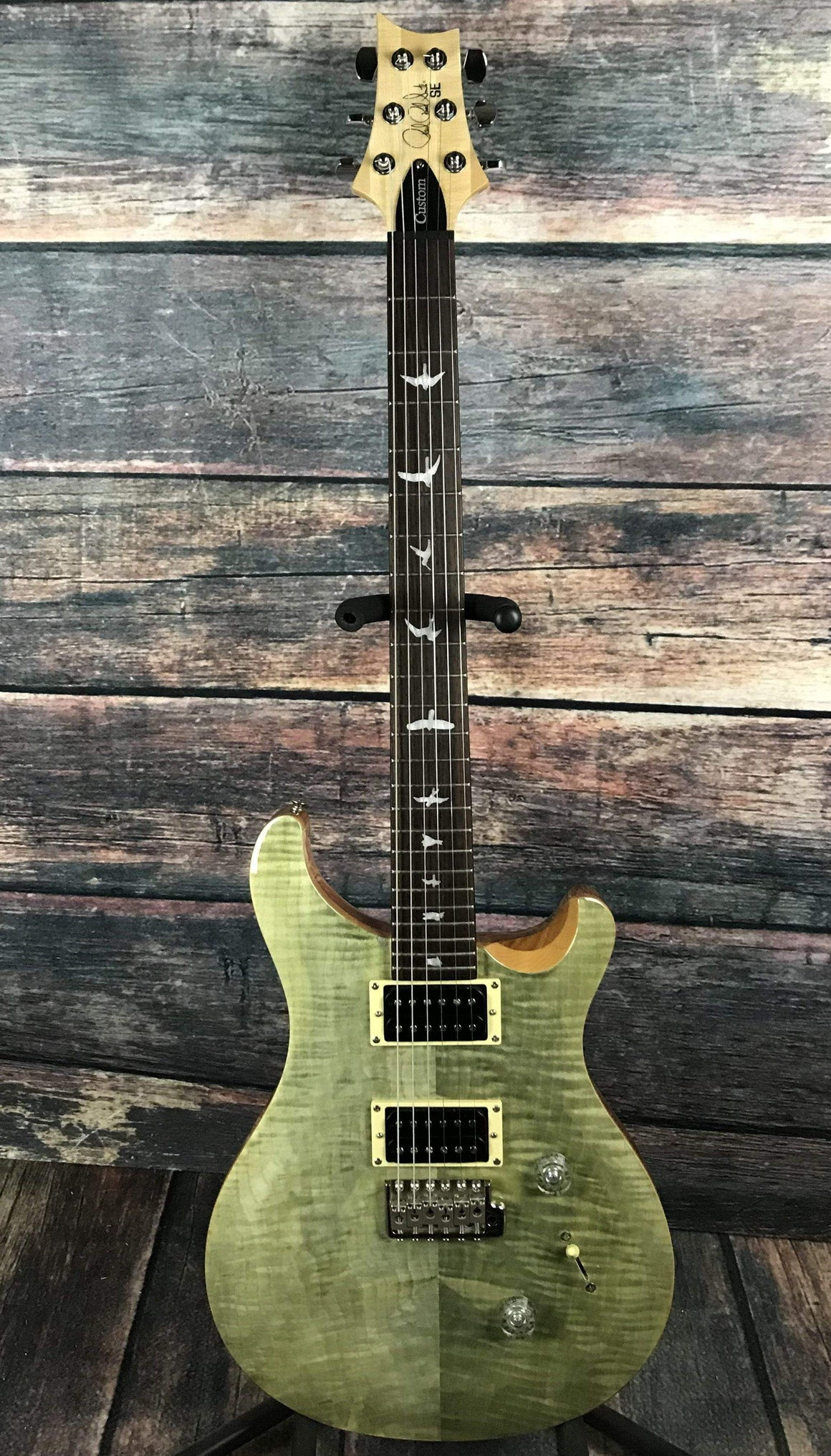 PRS Electric Guitar Used Paul Reed Smith PRS SE Custom 24 with PRS Gig Bag- Trampas Green