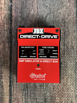 Radial pedal Used Radial JDX Direct-Drive Analog Amp Simulator Guitar Direct Box DI w/ Box
