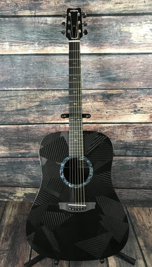 RainSong Acoustic Electric Guitar Rainsong Left Handed Black Ice BI-DR1000N2 6-string Jumbo Acoustic Electric Guitar