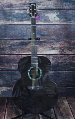 RainSong Acoustic Electric Guitar Rainsong Right Handed Black Ice BI-JM1000N2 6-string Jumbo Acoustic Electric Guitar
