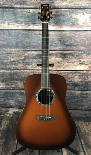 RainSong Acoustic Guitar Guitar and Case Rainsong Left Handed DR1000N2T Acoustic Electric Dreadnought Guitar-Tobacco Burst