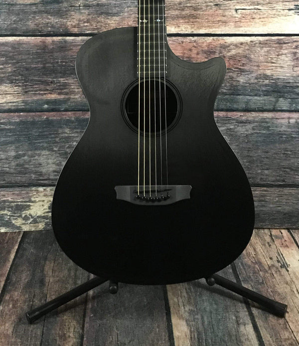 rainsong ch om1000ns concert hybrid acoustic electric guitar with case. Black Bedroom Furniture Sets. Home Design Ideas