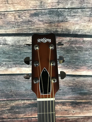 RainSong Acoustic Guitar Rainsong Left Handed DR1000N2T Acoustic Electric Dreadnought Guitar-Tobacco Burst