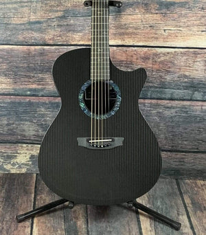 RainSong Acoustic Guitar Rainsong OM1000N2 Classic Series Acoustic Electric Cutaway Orchestra Body Graphite Guitar