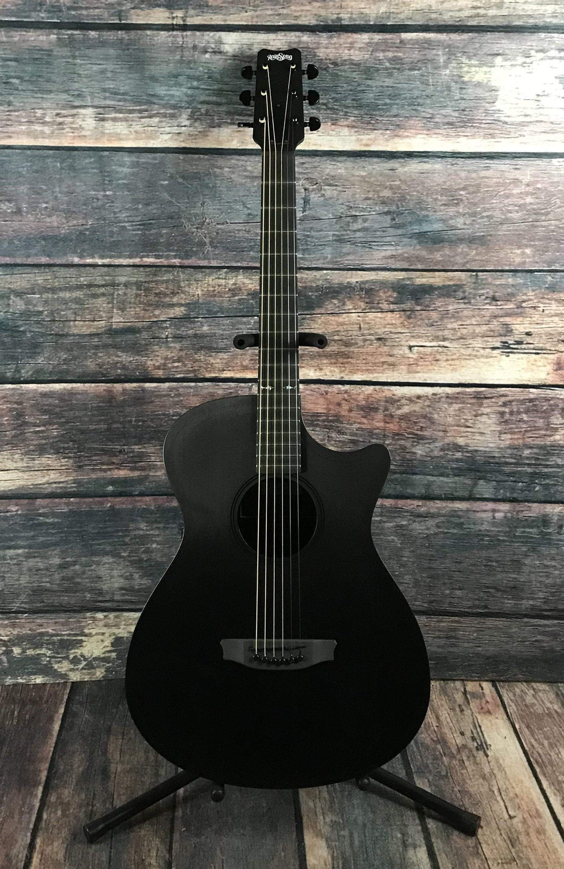 RainSong Acoustic Guitar Used Rainsong CH-OM1000NS Concert Hybrid Acoustic Electric Guitar with Rainsong Case