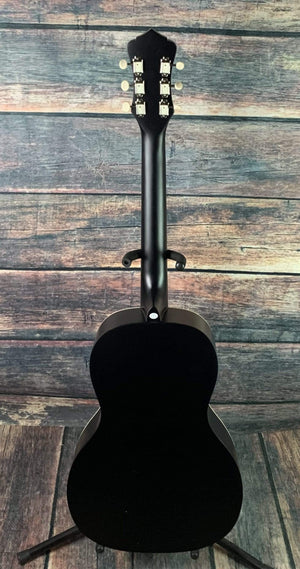 Recording King RPS-7-MBK Dirty 30's Series 7 Single 0 Acoustic Guitar- Matte Black