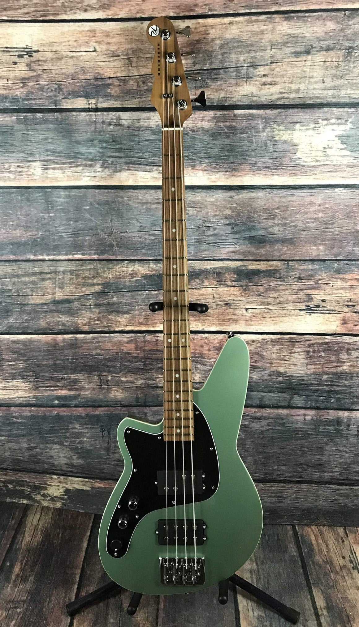Reverend Electric Bass Reverend Left Handed Mercalli 4 Electric Bass - Metallic Alpine