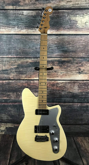 Reverend Electric Guitar Reverend 20th Anniversary Double Agent W Electric Guitar- Natural Flamed Maple