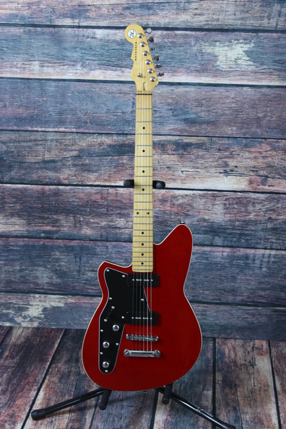 Reverend Electric Guitar Reverend Left Handed Jetstream 290 Metallic Red Electric Guitar