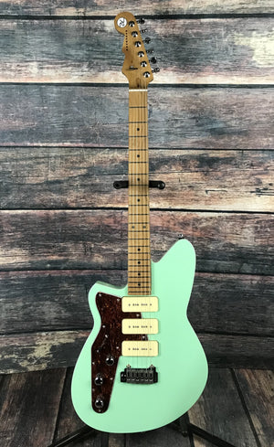Reverend Electric Guitar Reverend Left Handed Jetstream 390 Oceanside Green Electric Guitar