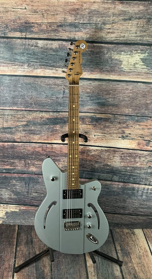 Reverend Electric Guitar Used Reverend Air Sonic Electric Guitar- Metallic Silver Freeze