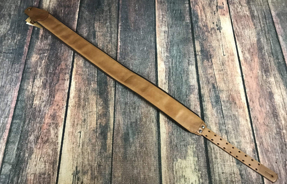 RightOn! Strap RightOn! Bassman Collection Smooth Woody Leather Guitar Strap