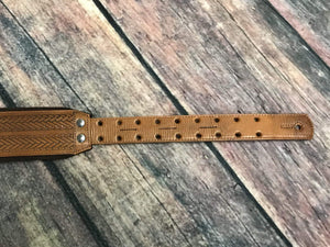 RightOn! Strap RightOn! LeatherCrafter Collection Leather Guitar Strap- Tress Woody
