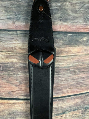 RightOn! Strap RightOn! Mojo Collection Leather Guitat Strap- Charm Black