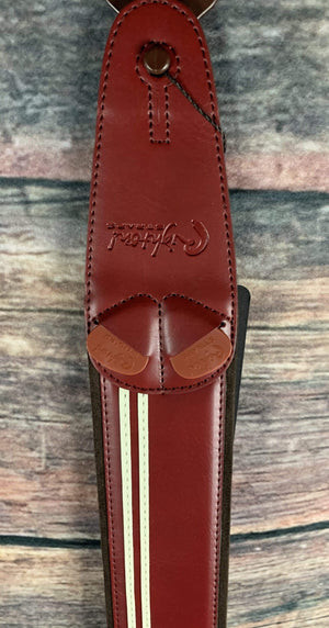 RightOn! Strap RightOn! Mojo Collection Vegan Leather Guitar Strap - Race 020 Red