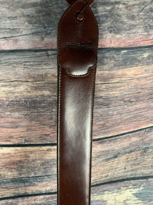 RightOn! Strap Righton! Straps Leathercrafter Series Brown Leather Guitar Strap