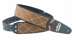 RightOn! Strap RightOn! VOX 60th Anniversary Strap with Diamond Pattern & Gold Engraved Leather Patch