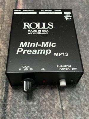 Rolls pedal Used Rolls MP13 Mini Microphone Preamp