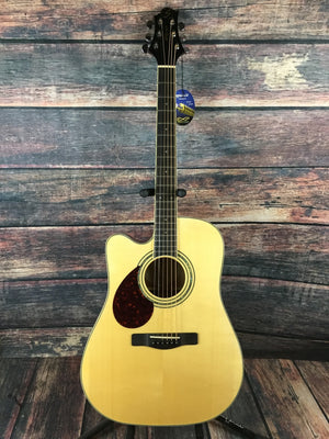 Samick Acoustic Guitar Samick Left Handed Worthington D5CE Acoustic Electric Guitar