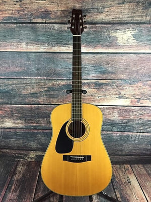 Samick Acoustic Guitar Used Samick Left Handed SW201 Acoustic Guitar with Gig Bag