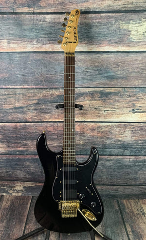 Samick Electric Guitar Used Samick Valley Arts Custom Pro Shop SSM3 Electric Guitar with Gig Bag- Black