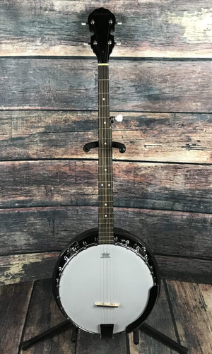 Savannah Banjo Savannah Left Handed SB-100L 24 Bracket 5 String Resonator Banjo