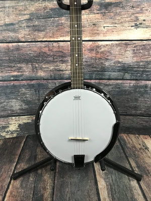 Savannah Left Handed SB-100L 24 Bracket 5 String Resonator Banjo