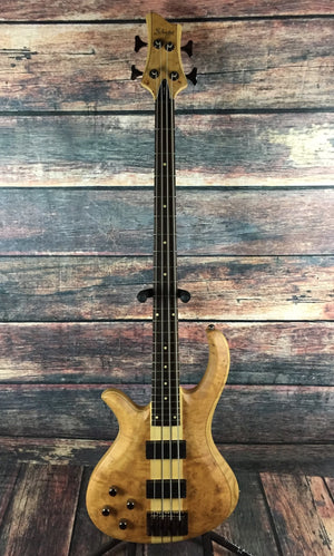 Schecter Electric Bass Bass Only Schecter Left Handed Riot 4 Burl Maple Electric Bass