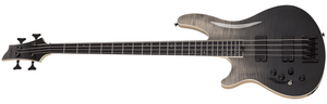 Schecter Electric Bass Bass Only Schecter Left Handed SLS Elite-4 4 String Electric Bass #1398- Black Fade Burst
