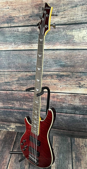 Schecter Electric Bass Schecter Left Handed Omen Extreme 5 Electric Bass-#2047