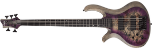 Schecter Electric Bass Schecter Left Handed Riot 5 5-String Electric Bass - Aurora Burst #1455