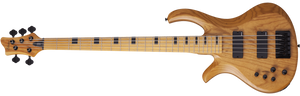 Schecter Electric Bass Schecter Left Handed Riot-5 Session LH - Aged Natural Satin (ANS) #2857
