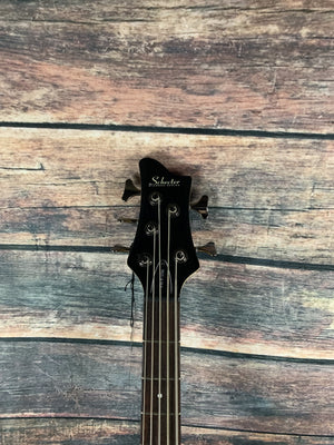 Schecter Electric Bass Schecter Left Handed Riot Deluxe 5 Electric Bass - Gloss Black