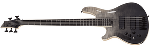 Schecter Electric Bass Schecter Left Handed SLS Elite-5 5 String Electric Bass #1399- Black Fade Burst