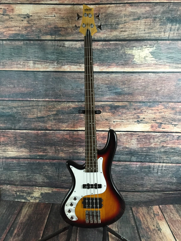 Schecter Electric Bass Schecter Left Handed Stiletto VIntage 4 Electric Bass #2528