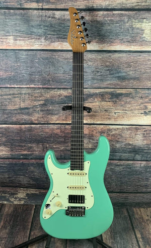 Schecter Electric Guitar Guitar Only Schecter Left Handed Nick Johnston Traditional H/S/S Electric Guitar - Atomic Green #1543