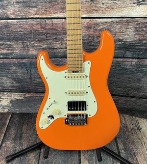 Schecter Electric Guitar Schecter Left Handed Nick Johnston Traditional H/S/S Electric Guitar - Atomic Orange #1544