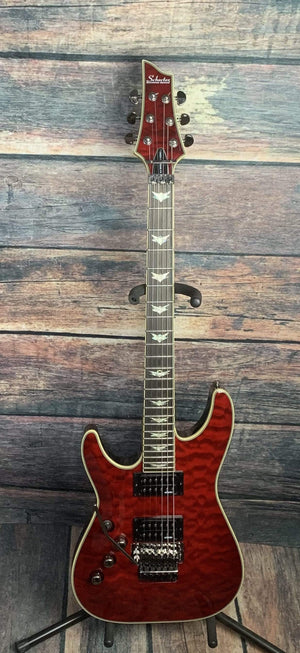 Schecter Electric Guitar Used Schecter Left Handed Omen Extreme FR Electric Guitar with Gig Bag