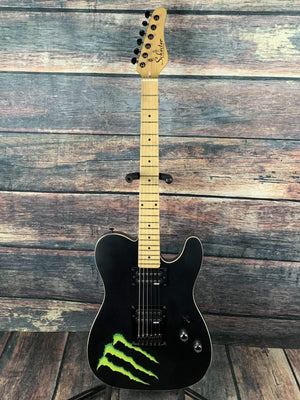 Schecter Electric Guitar Used Schecter PT Monster Energy Matte Black HH Electric Guitar