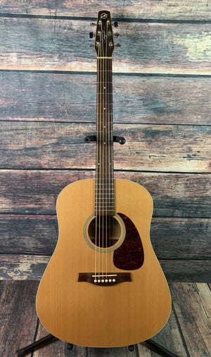 Seagull Acoustic Electric Guitar Used Seagull S6 Slim Acoustic Electric Guitar with Hard Shell Case